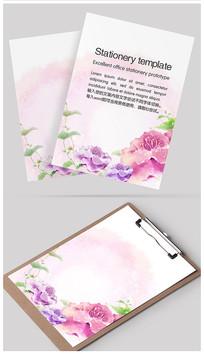 紫牡丹唯美信纸