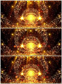 大气金色粒子颁奖歌曲背景