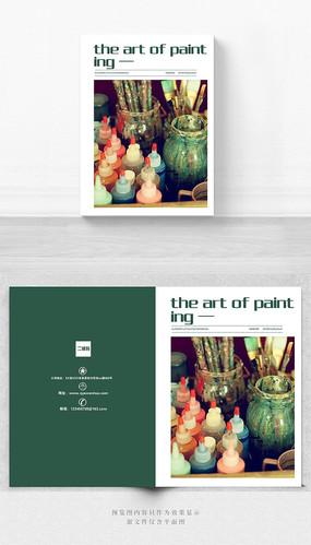 绘画艺术宣传册封面设计