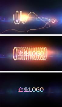 粒子旋转LOGO片头AE模板