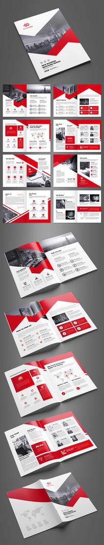 简约红色企业形象宣传册模板