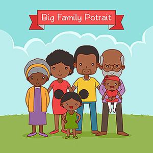 幸福家庭手抄报插图