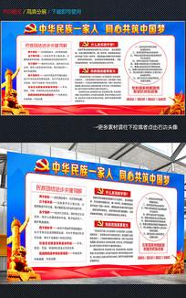 中华民族团结一家亲宣传展板