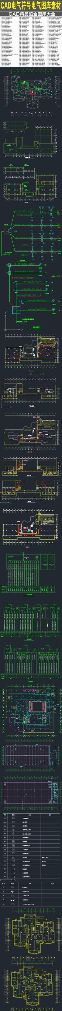CAD电气符号电气图库