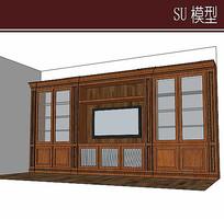 木质电视柜模型