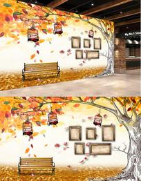秋天风景设计背景墙