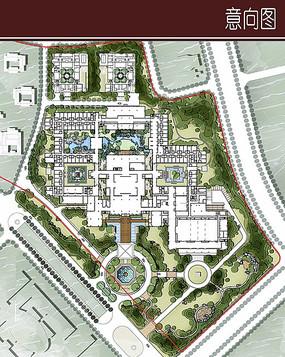 生态城酒店总平面图