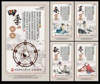 中医四季养生展板 PSD