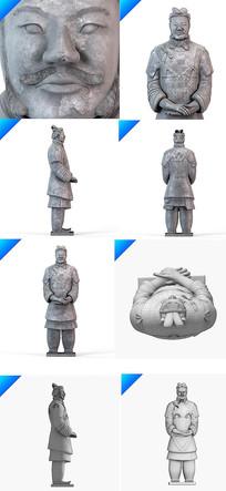 兵马俑人物模型 max