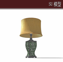 典雅的台灯模型