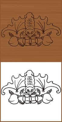 福寿双全象征矢量图案