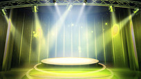 黄色舞台灯光背景视频
