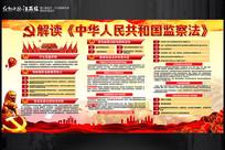 解读中华人民共和国监察法展板