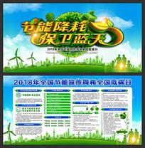 2018节能宣传周低碳日展板