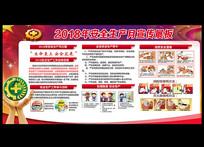 2018年安全生产月宣传栏