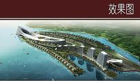 滨水游艇建筑景观效果图 JPG