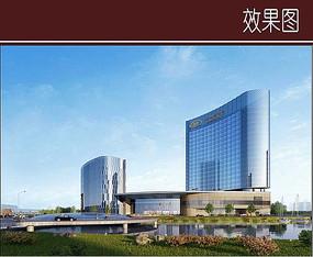 超现代酒店建筑效果图