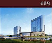 超现代酒店建筑效果图 JPG