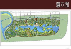 城市景观规划彩平图