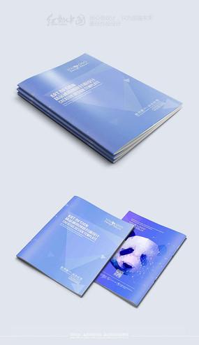 创意大气熊猫背景封面模板