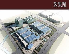 工业园区建筑鸟瞰图