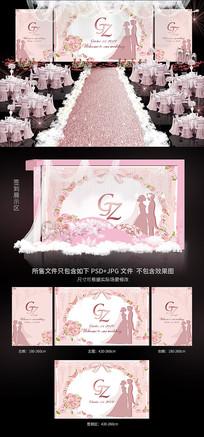 浪漫唯美婚礼背景效果图模板