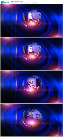新闻地球背景视频