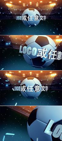 3d世界杯足球片头模板