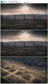 6分钟古代战争冲锋视频素材