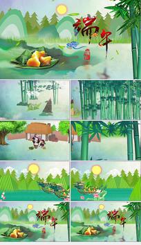 AE中国风端午节片头模版