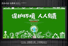 保护环境人人有责海报