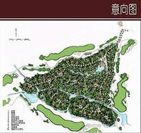 高尔夫别墅规划彩平图