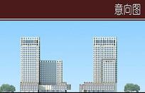 酒店建筑立面图