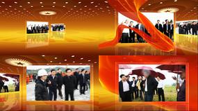 领导视察工作照片展示AE模版