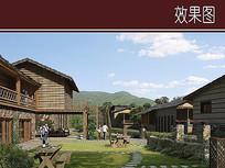 旅游区休闲客栈景观效果图