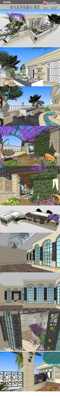 欧式别墅花园观景设计模型