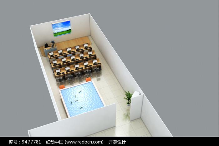 培训教室3D模型图片