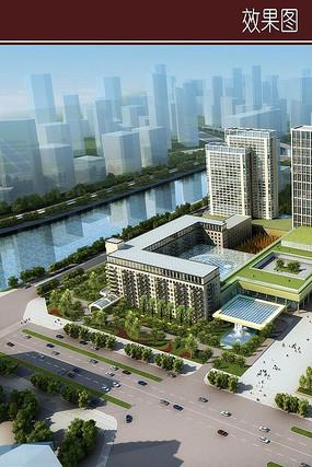 商城建筑景观效果图
