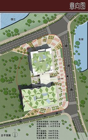 校园生态建筑景观_生态建筑景观彩平图