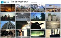 塔吊施工城市建设实拍视频
