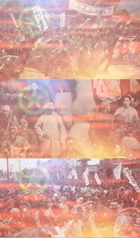 五四纪念爱国歌舞台背景视频