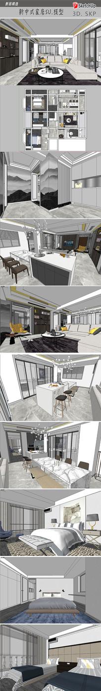 现代简约家居设计模型