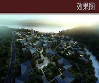 休闲度假区建筑群鸟瞰图 JPG