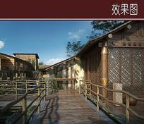 畲族风情建筑景观效果图 JPG