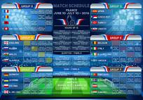 足球对战表模板