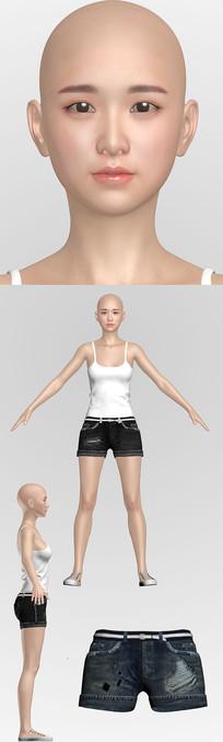 3dmax模型美女Ynlin max
