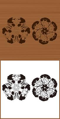 两款中国传统矢量花纹图案