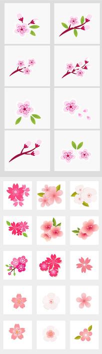 桃花樱花树枝