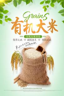 中国风绿色健康有机大米海报