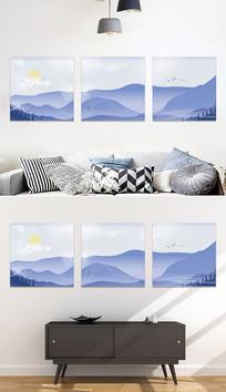 中国风水墨风景装饰画无框画